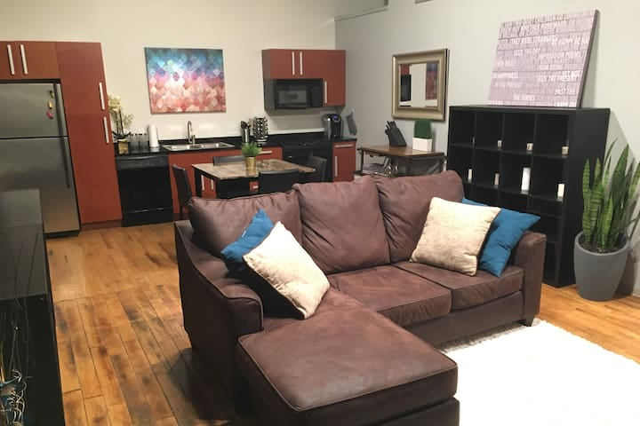 Classic Downtown 1BR Loft Apt w/ Pool and Gym