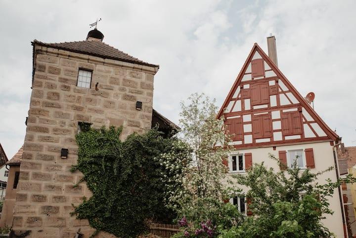 Spalt Fachwerkhaus mit Aussicht