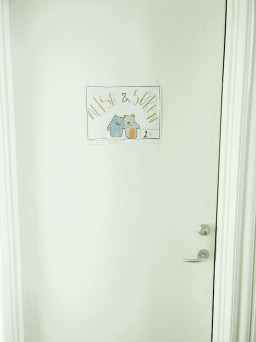 the door to our appartment