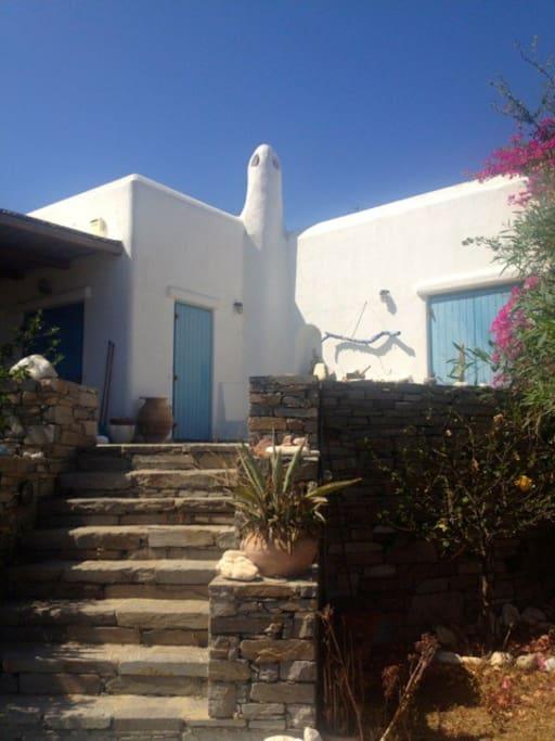 The villa's main entrance to the veranda.
