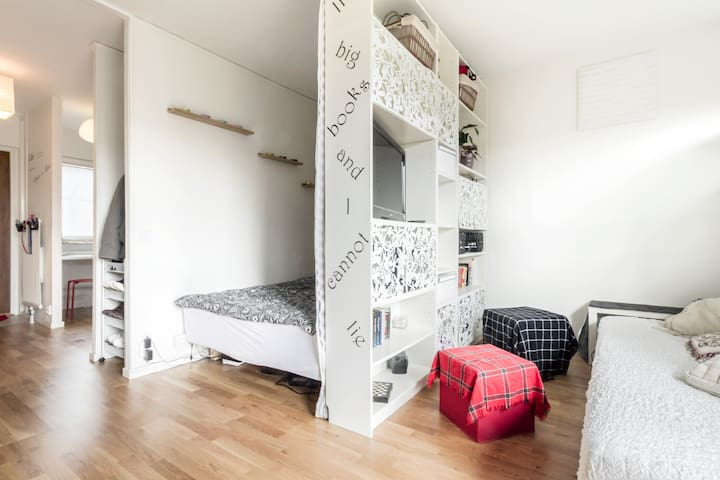 cozy&modern studio in a green area - Lund - Apartemen