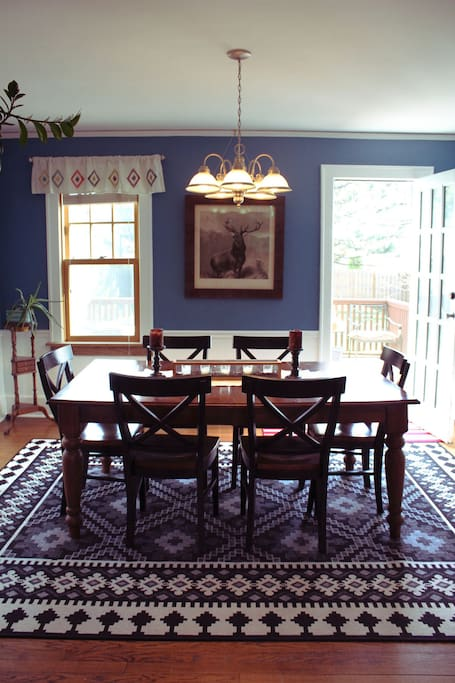 Dining room with door to back patio