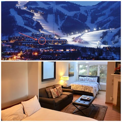 Ski-in/Out Park City Resort, 3 Qn beds, 4 ppl max