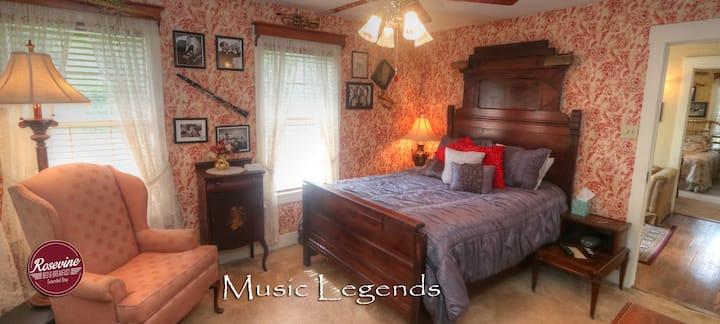 The Music Legends Room at The Rosevine Inn