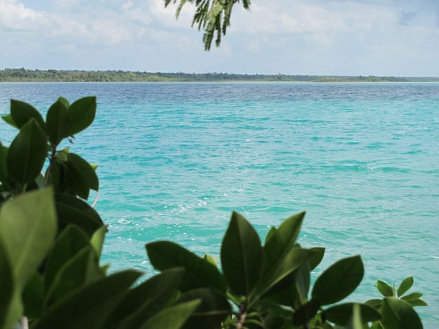Waterfront Cabaña with Deck - Bacalar - Nature lodge