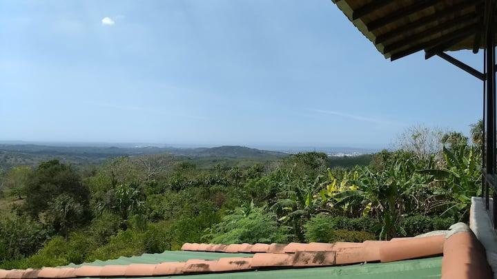 Casa campestre con una vista panoramica hermosa