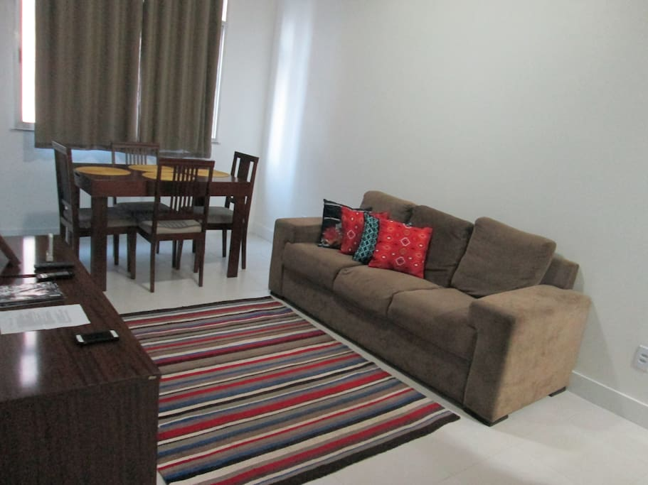 Living room with eating area