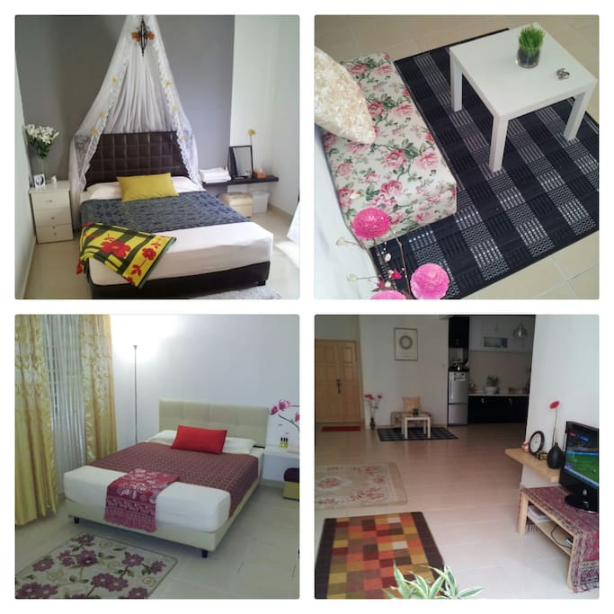 Interior Decoration for spacious unit at level 18. Cozy and Windy