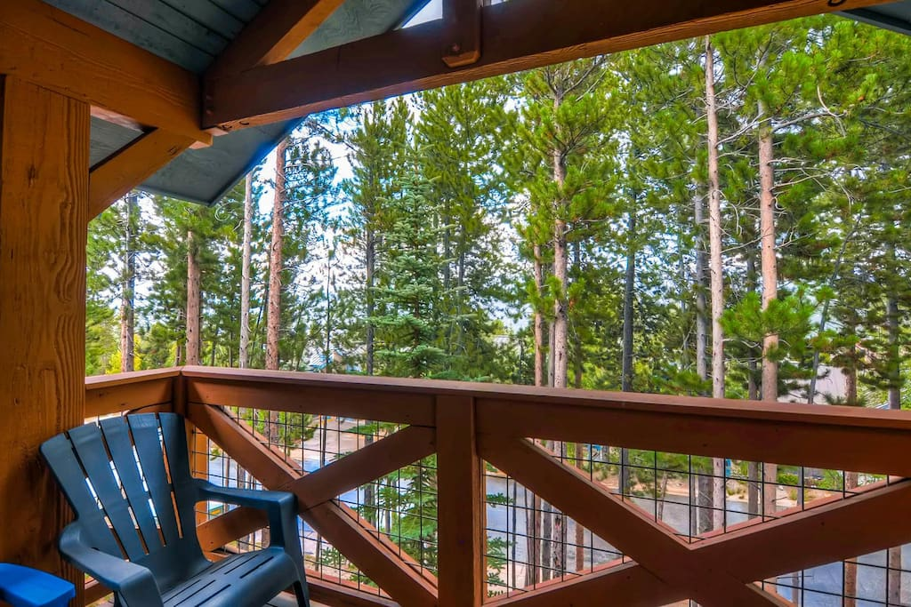 Enjoy a view of the pines from your private balcony.