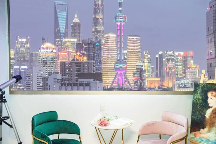 『莉丝Lisbeth』360°外滩夜景 网红打卡超越W酒店VIEW的智能家居房