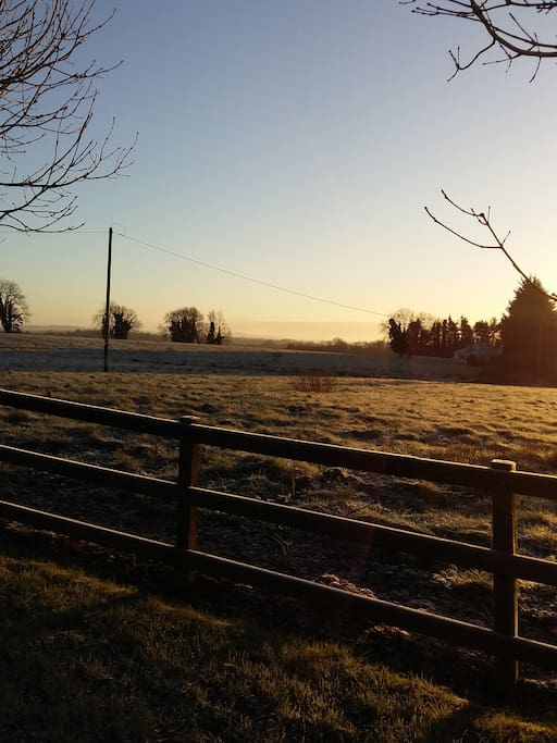 Frosty morning view