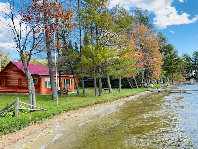 Impeccably Maintained Log Cabin on East Twin Lake