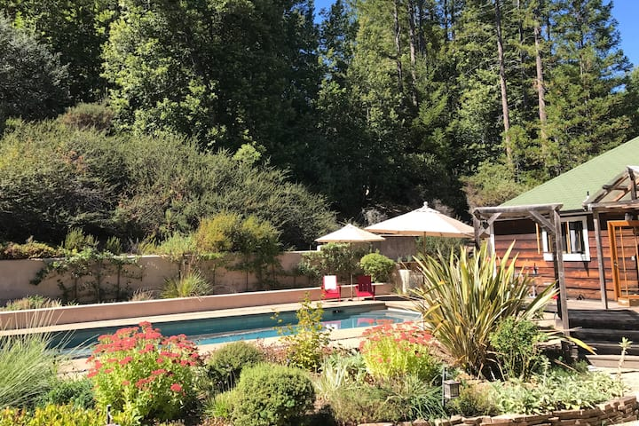 Zen House Retreat with Pool in Anderson Valley