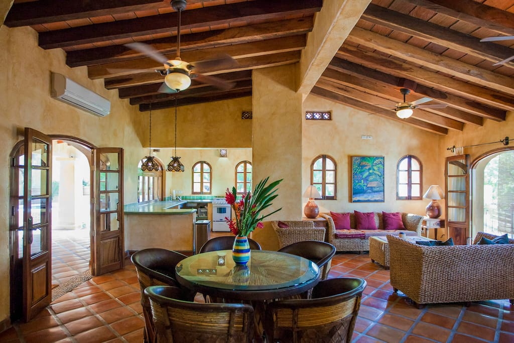 Indoor or outdoor dining for four...