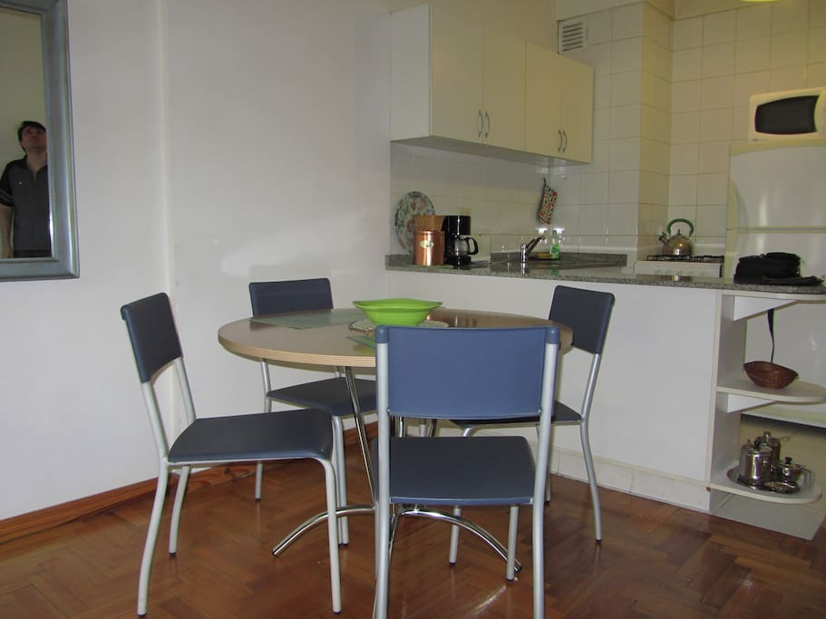 dining area, kitchen view