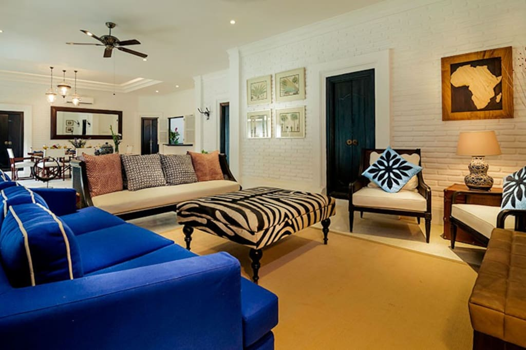 Grab a glass of wine and unwind in the comfortable living area