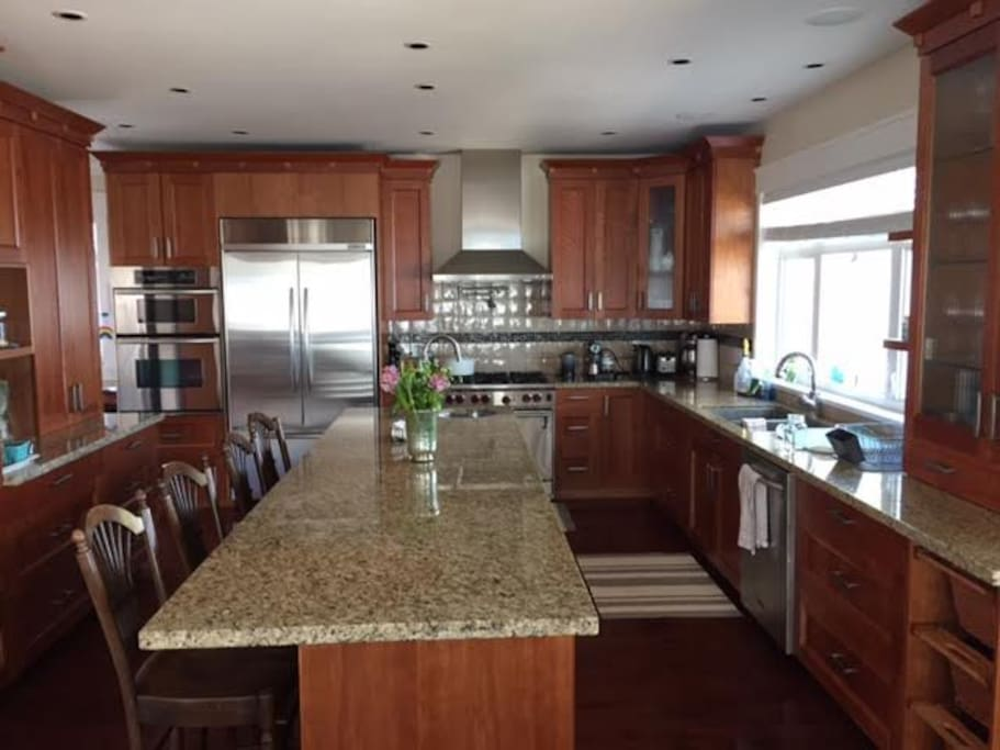 State of the art kitchen with top of the line appliances
