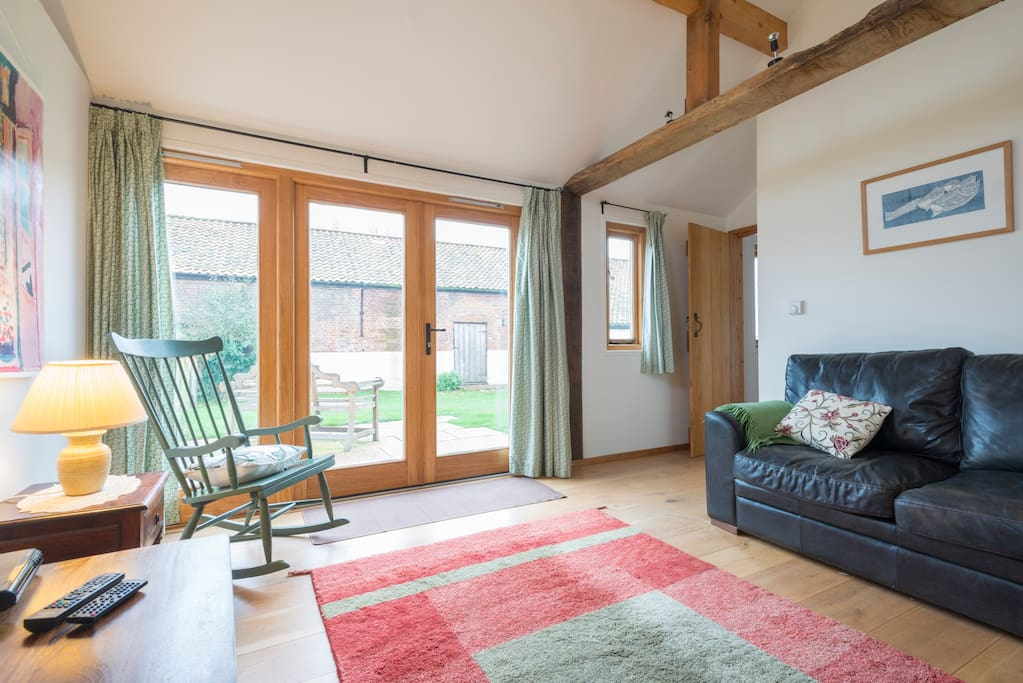 Sitting room with french doors to garden