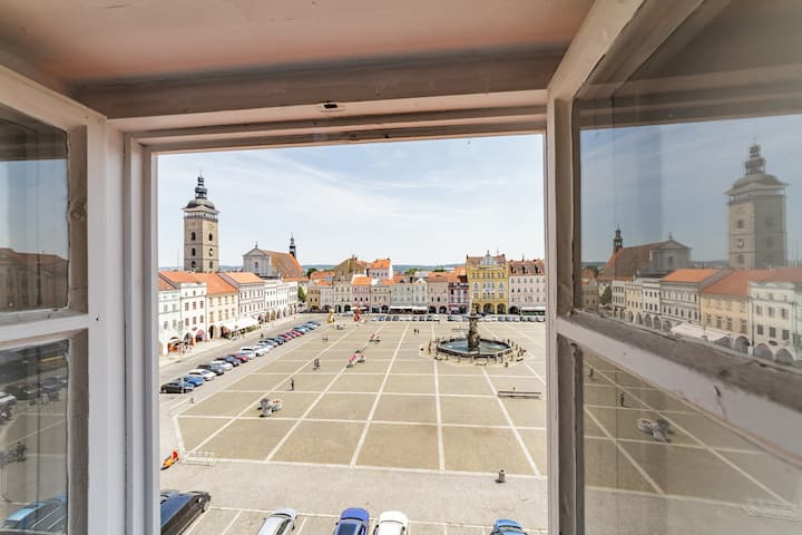 The View I. Old Town Studio with elevator