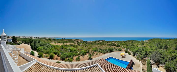 Unique Clifftop Villa with Sea View & Pool