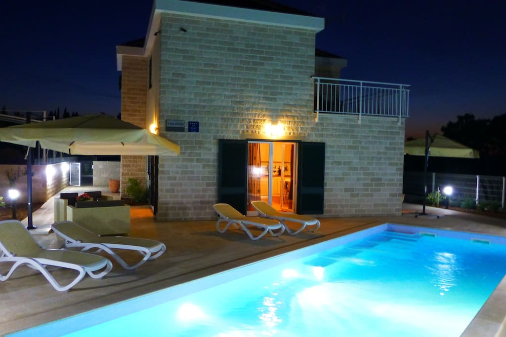 Terraces and pool