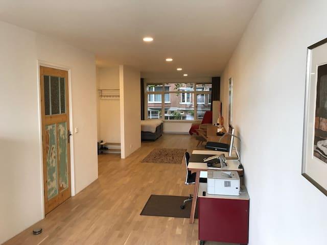 Full-length view of studio