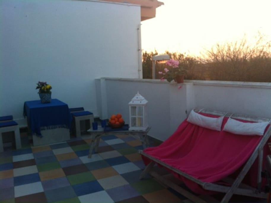 Bbq in the terrace in the Albufera Landscape