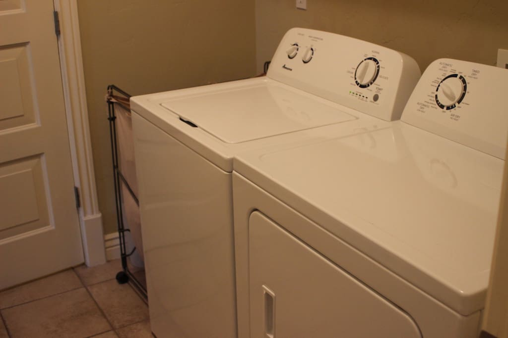 washer and dryer ad soap provided