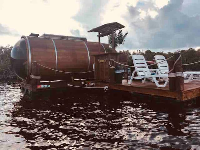 The Salty Seahorse - Unique Floating Barrel Cabin