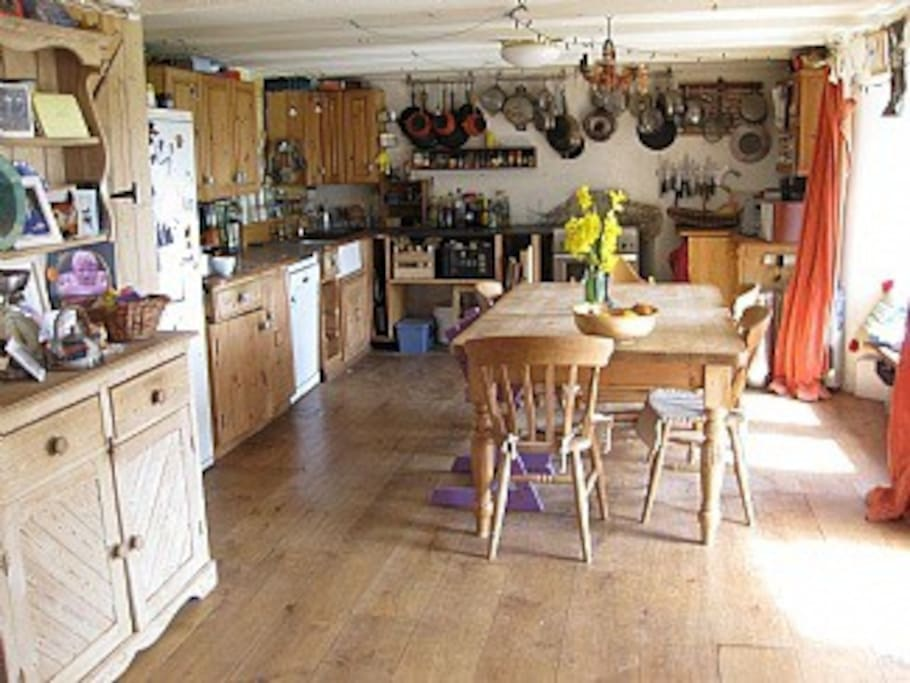 Large farmhouse kitchen