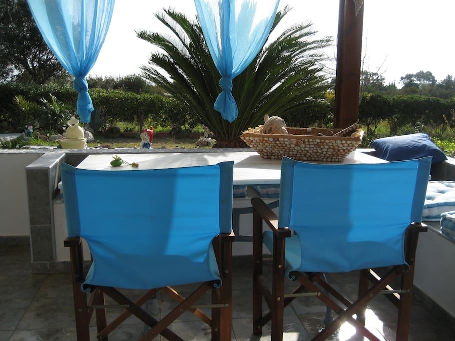 Wonderful terrace. Enjoy your breakfast or a great wine in the evening.