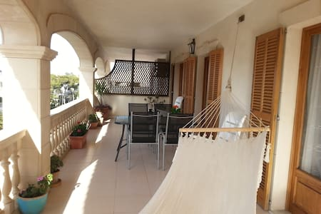 Apartment with large terrace - Colònia de Sant Jordi - Huoneisto