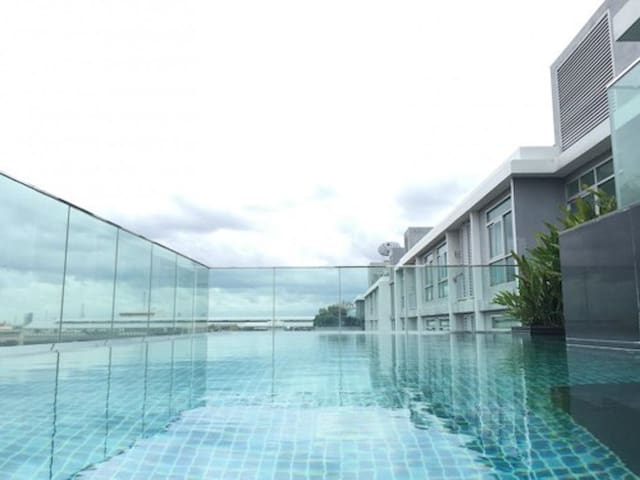 1BR CORNER BTS SUKHUMVIT BANGCHAK FREE FAST WIFI - Bangkok - Wohnung
