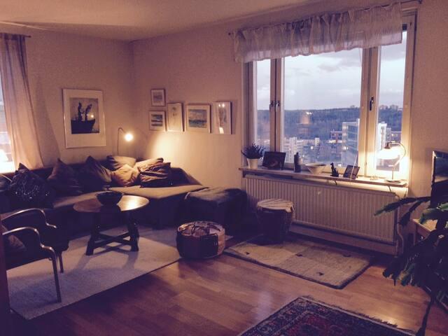 Cozy flat, great wiew, near city!
