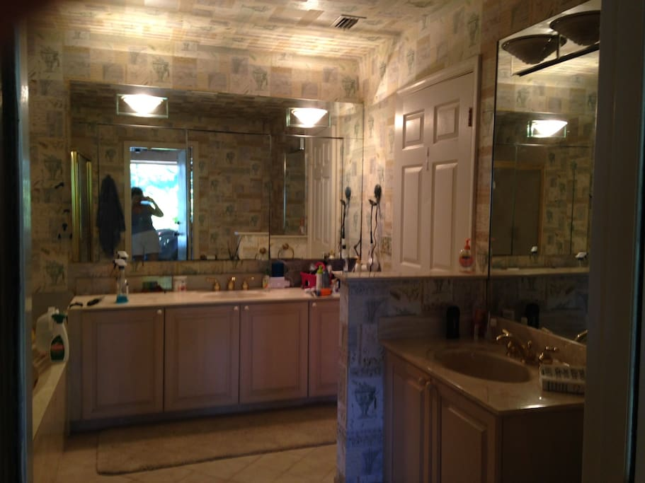 Master Bath, double sinks, large stall shower.  There's a big tub, but we never use it.