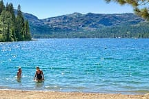Donner Lake is only 10 minutes away, down Donner Pass Road!