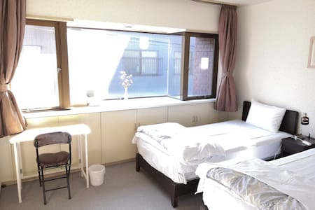 9min Kyoto station. 2 single bed. No cleaning fee.