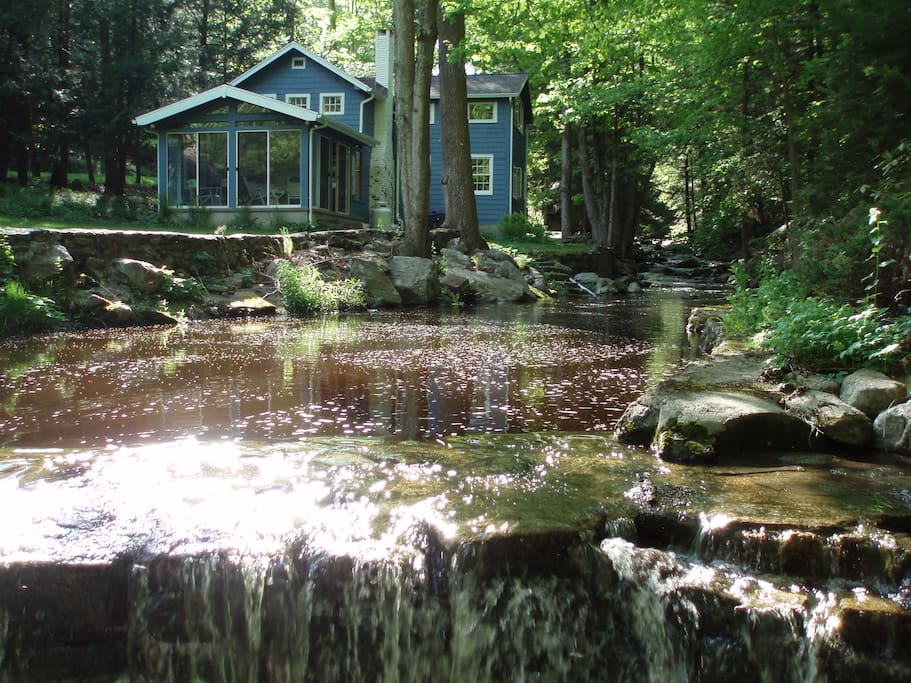 House is steps away from a brook and waterfall!