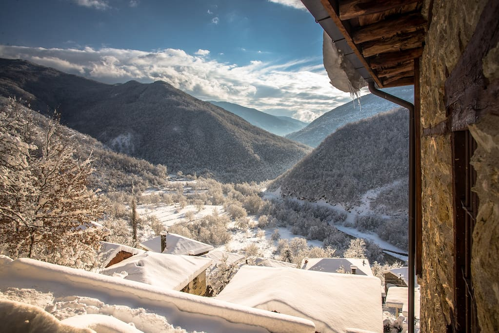 January south view on Radika Valley from the terrace.