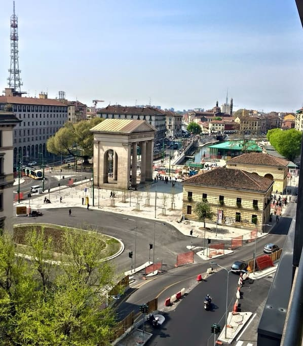 Special view from your new luxury room in Milan from your private balcony