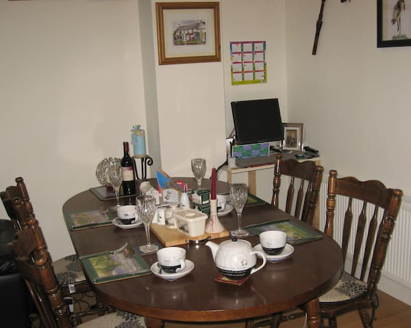 Dining area for guests meals. A light breakfast is complementary.