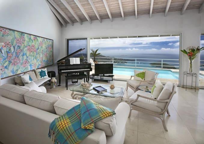 VILLA MARTI, Views Of Town & The Caribbean Sea