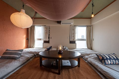 Up to 4 person! Japanese private room with Wifi