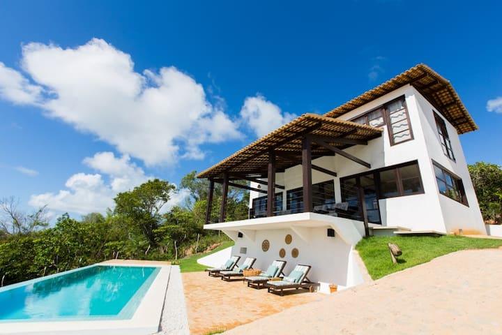 Casa com piscina & vistas incrveis - Porto de Pedras - Ház