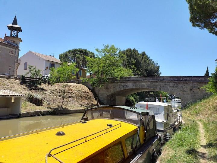 Appartement au bord du canal du Midi