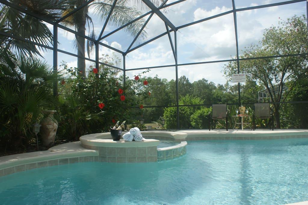 Tropical spa area