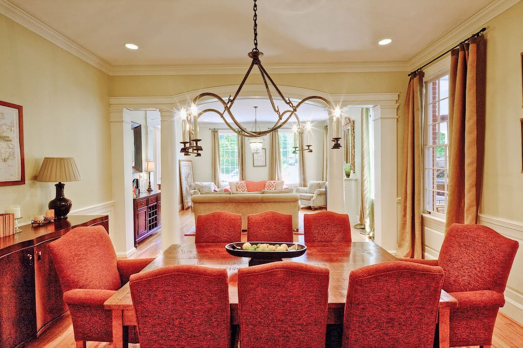 Formal dining area off the kitchen area
