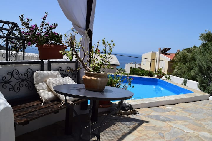 Saronida Sea View house with pool