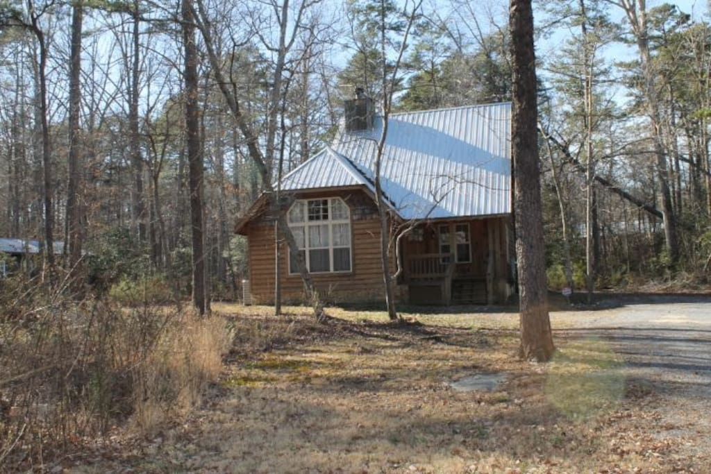 Huge lot and wooded which adds to privacy, yet, nestled right in the city limits of downtown Mentone