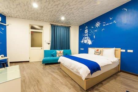 羅東夜市步行1分鐘 色差平價住宿 藍調雙人房 - Luodong Township